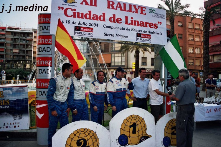 Podium final Rallye Linares 2004