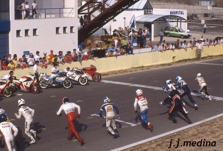 Salida carrera, tipo Le Mans