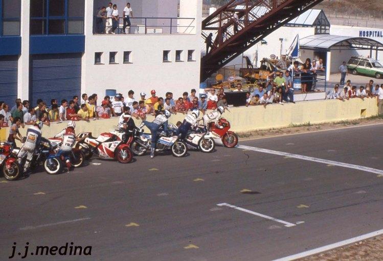 Salida carrera 8 Horas de Jerez 1986