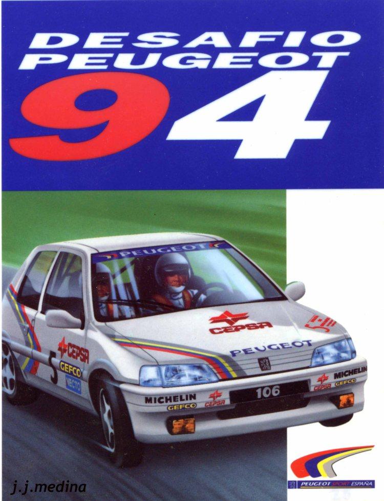 Pegatina Desafío Peugeot 94