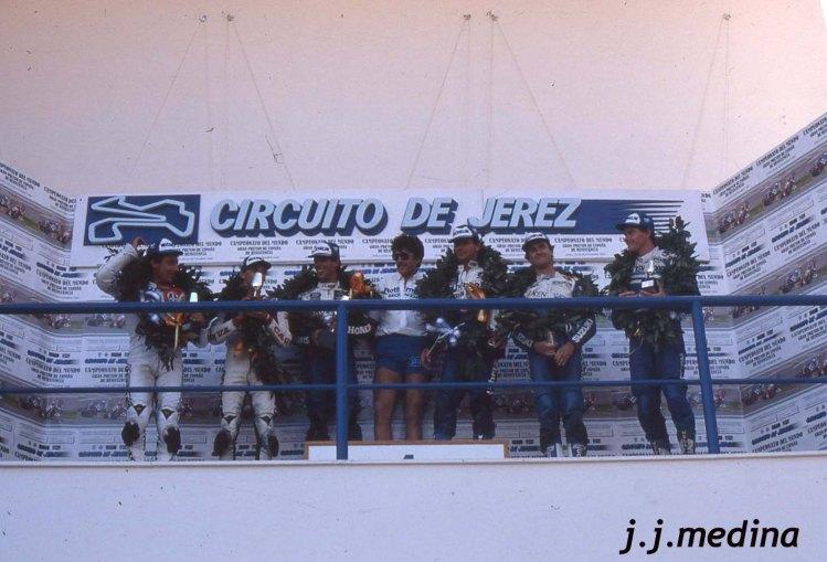 Podium vencedores 8 Horas de Jerez 1986