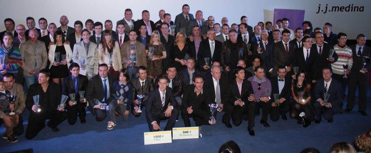 Foto de familia galardonados FAA 2012