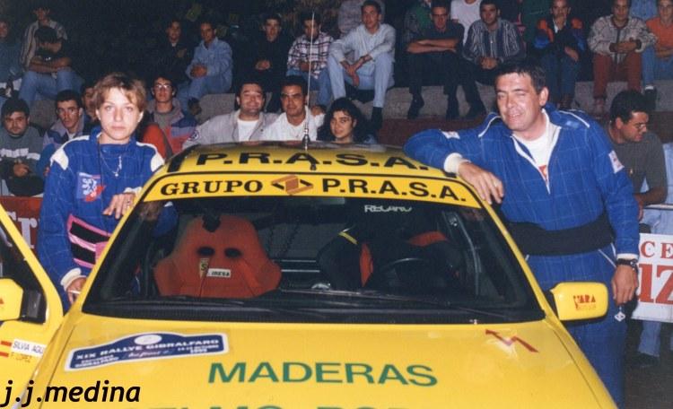 Silvia Aguilar y Paco López en la llegada