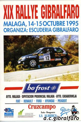 Cartel XIX Rallye Gibralfaro 1995