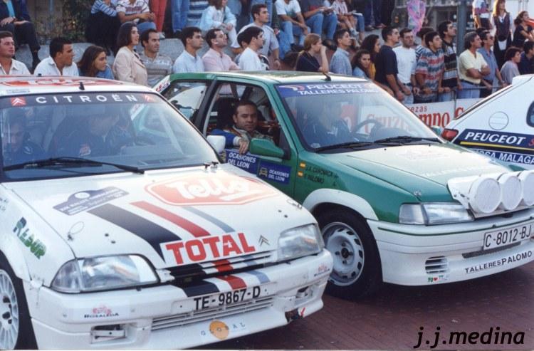 Teruel-García (Citroën AX), y Palomo-Canovaca (Peugeot 106 Rallye)
