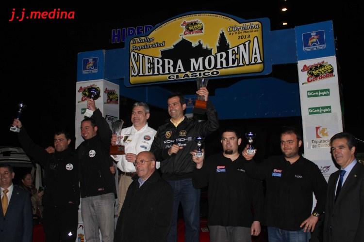 Podium final del II Rallye Sierra Morena Clásico