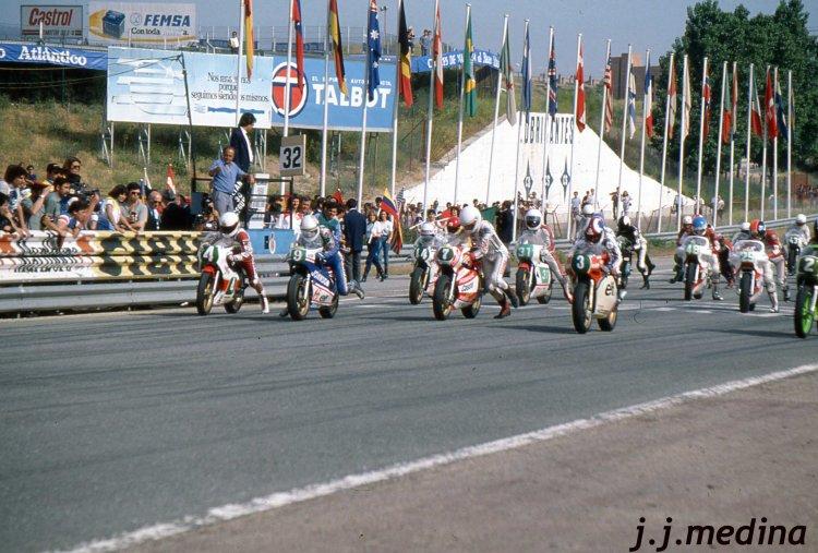 Salida carrera de 250cc