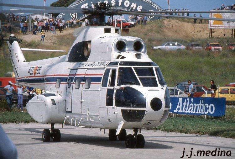 Juan Carlos I en el helicóptero