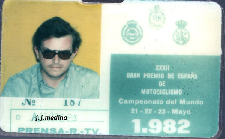 Credencial GP España Jarama 82