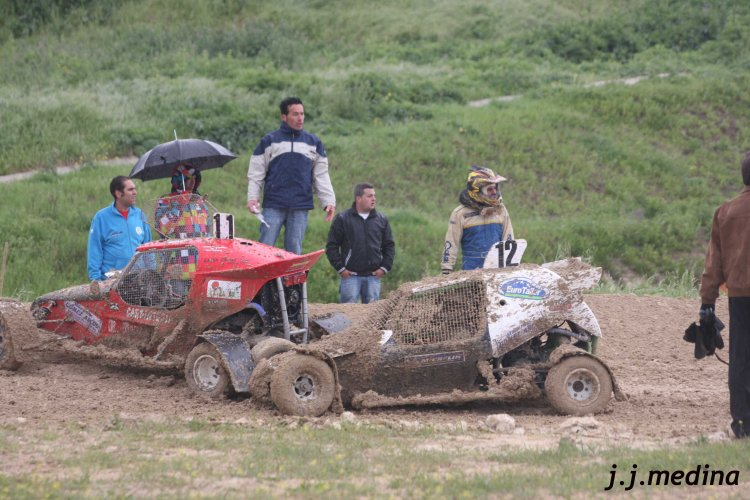 José Carlos Ruiz (nº 11 JB Racing) y Oscar Adán (nº 12 Semog)