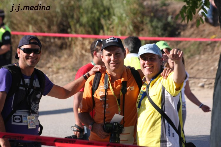 David Gómez, Jesús Calderón y Enrique (Sasar Racing)