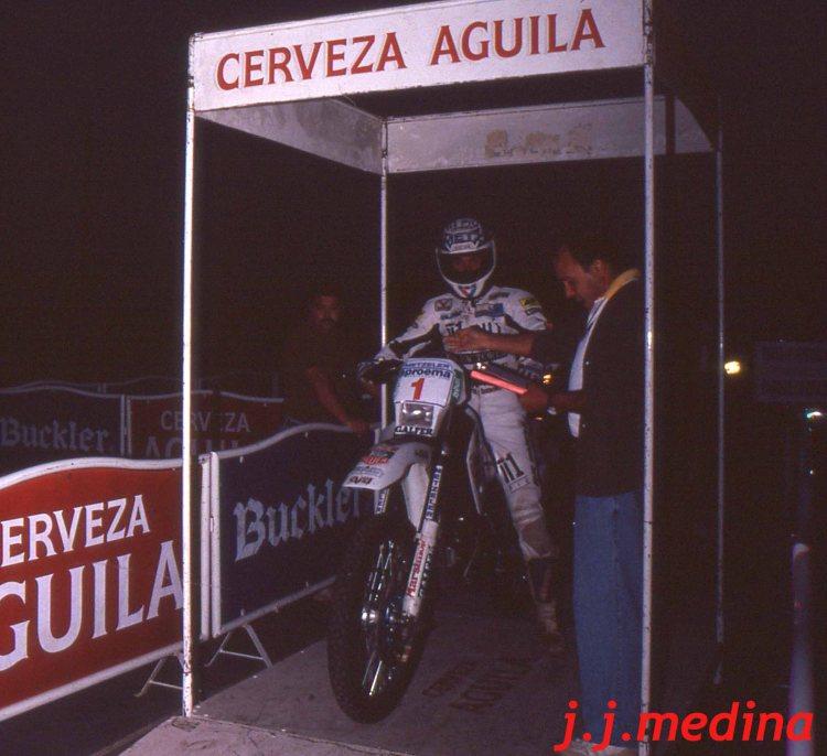 Edurado Cots, salida Rallye SMM 93