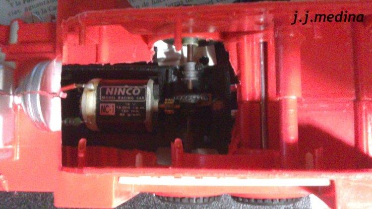 Vista motor Ninco desde arriba