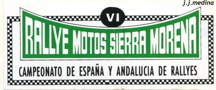 Pegatina VI Rallye Sierra Morenas Motos copia