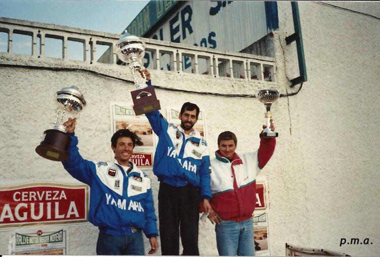Podium IV Rallye Sierra MorenaMotos  1991copia