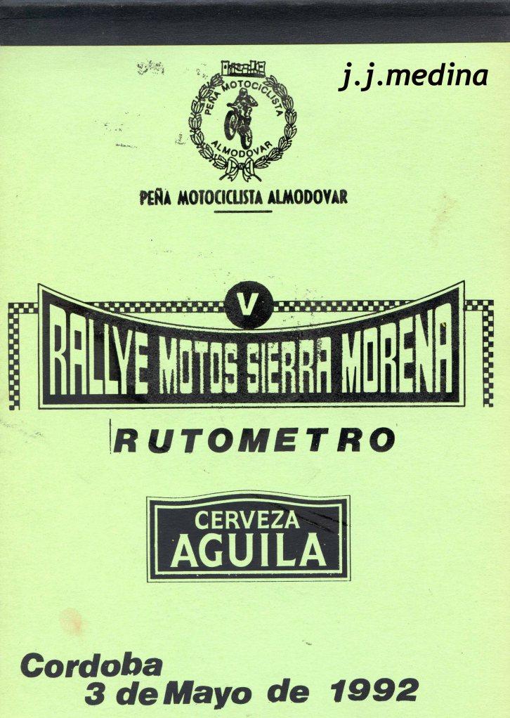 Rutómetro Sierra Morena Motos1992 rutómetro
