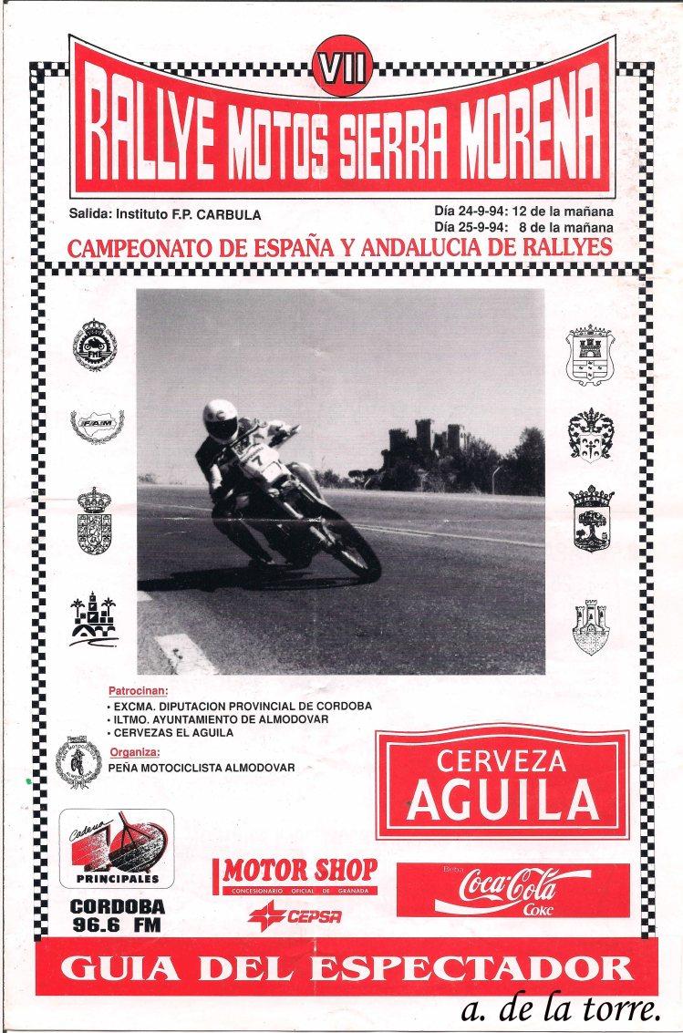Cartel VII Ralye Sierra Morena Motos copia