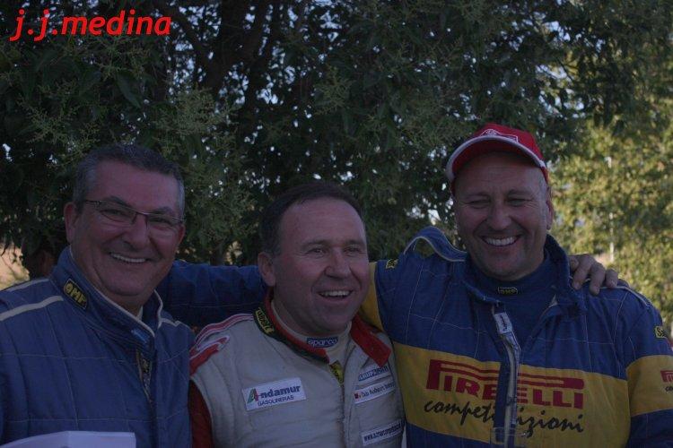 Amador Jaén, José Antonio Aznar y Mike Anderson