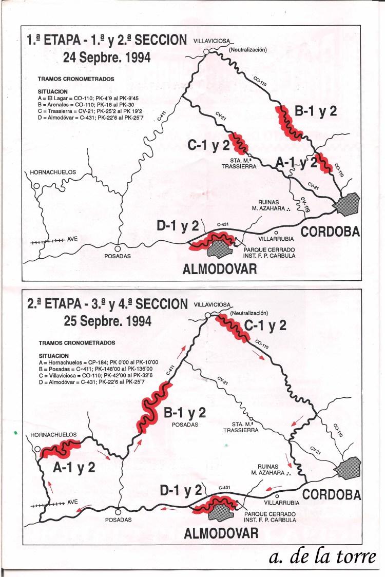 Mapa tramos VII Sierra Morena Motos copia