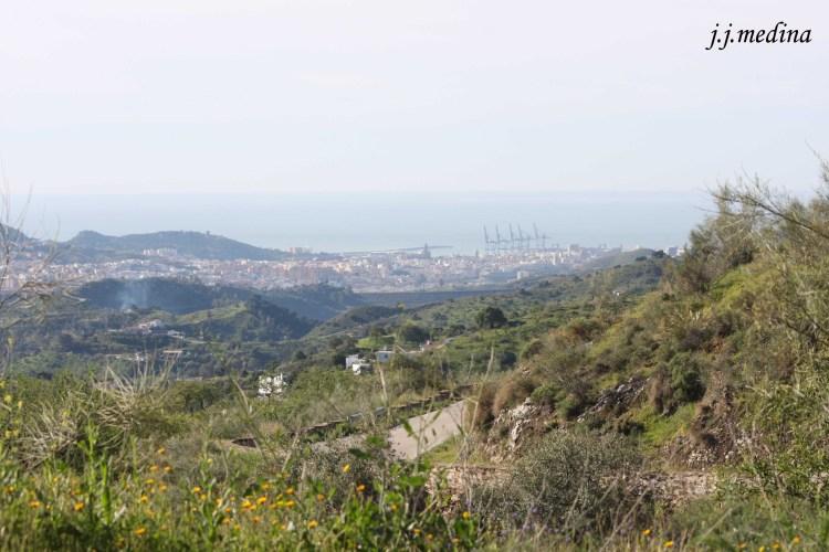 Málaga desde la meta de Casabermeja