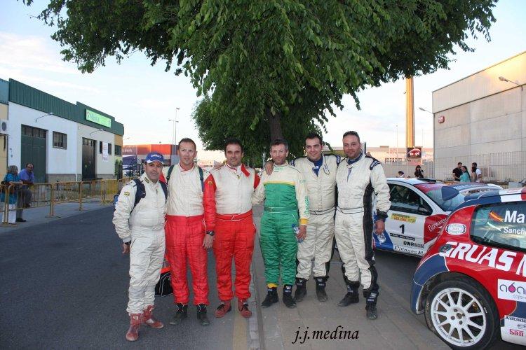 Pilotos y copilotos en el Rallye Sliks Sevilla
