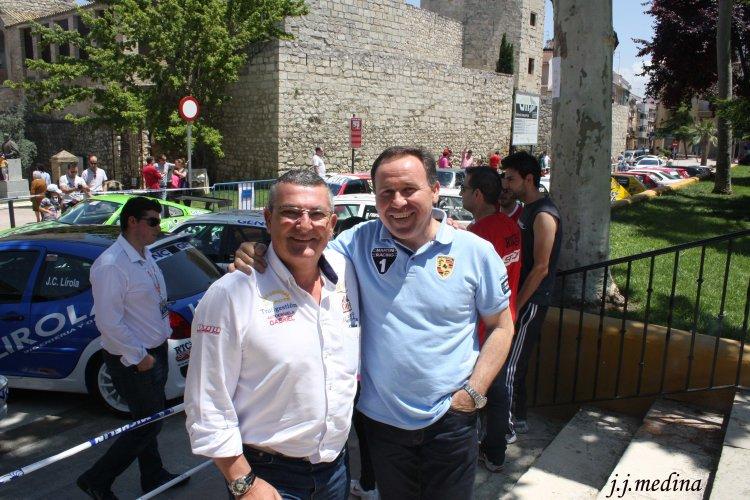 Amador Jaén y José Antonio Aznar en Lucena