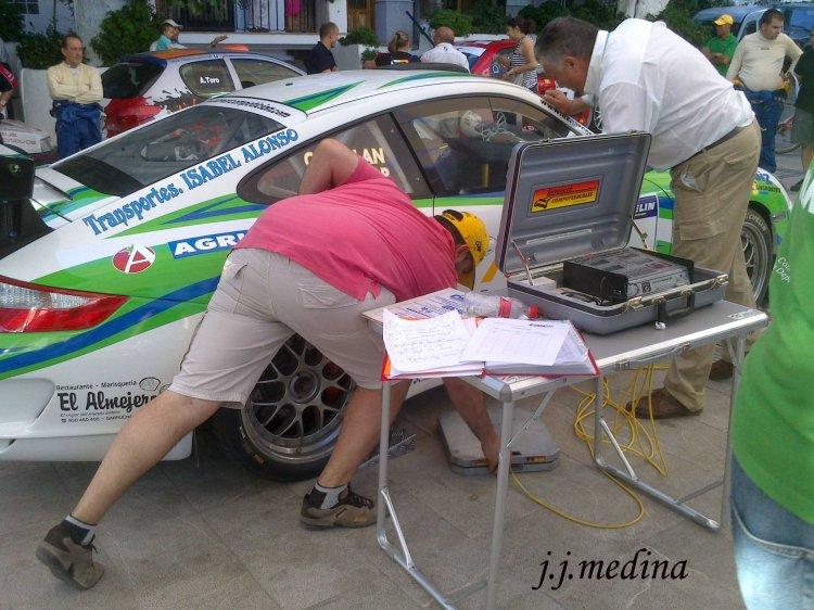 Pesaje del Porsche 997 GT3 de Aznar