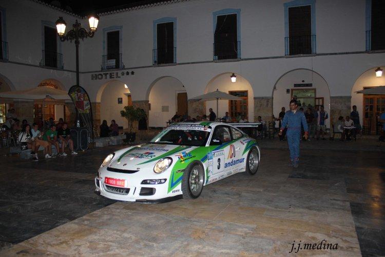 Porscge 9111 GT3 de Aznar-Galán en la Plaza Porticada
