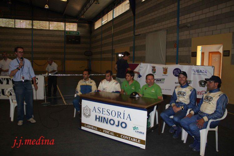 Rueda de prensa vencedores Rallye Sierra de Cádiz