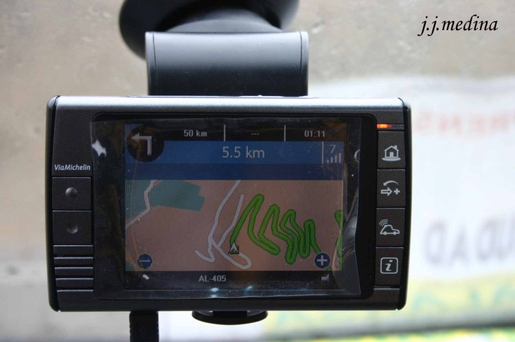 Puerto de  Velefique imagen del navegador GPS copia
