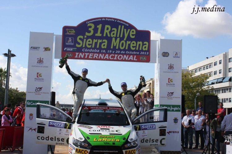Pernía-García, vencedores del 31 Rallye Sierra Morena