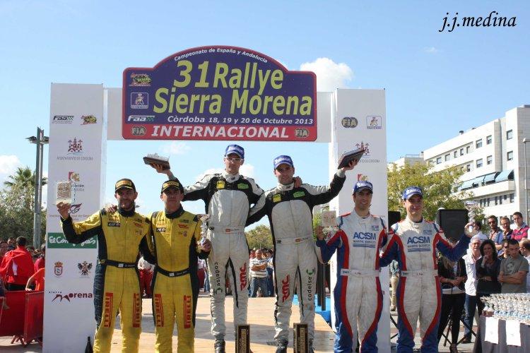 Podium del 31 Rallye Sierra Morena