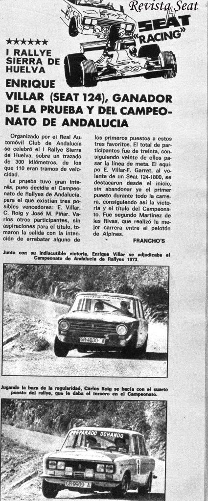 Revista Seat Febrero 1974
