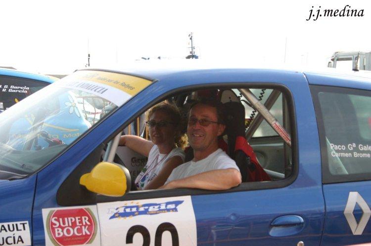 Carmen Brome y Paco galera en el Rallye Costa de Almería 2004