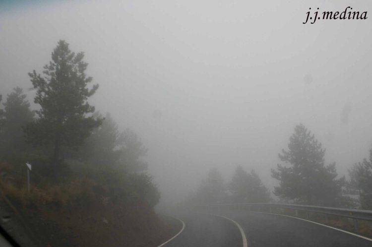Niebla en la carretera a Serón