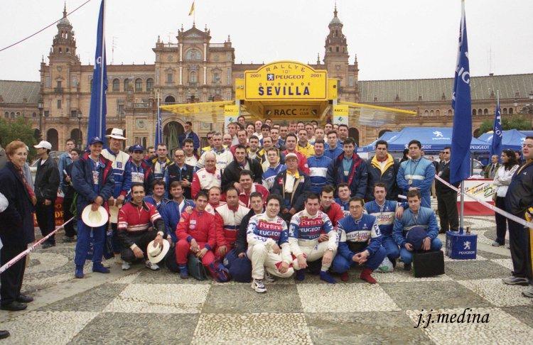 Foto de participantes Rallye de Sevilla 2001