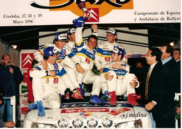 Equipo Peugeot, vencedor Sierra Morena 1996