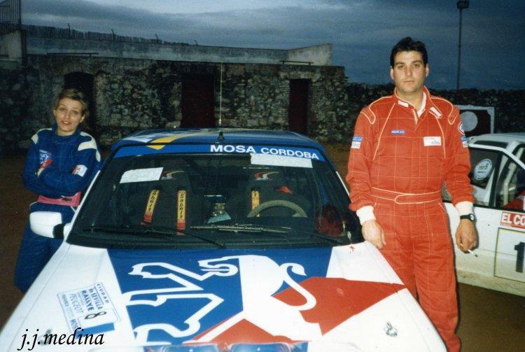 Silvia Aguilar y Francisco Torreras, peugeot 309 GTI 16v Rallye Sevilla 1995