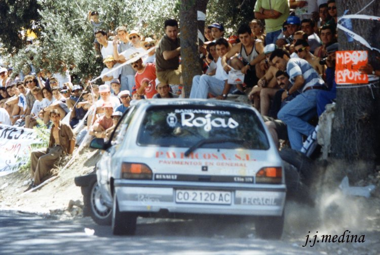 Rafael Fabio, Renault Clío 16 v, Subida a la Mota 1995