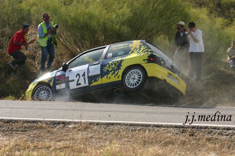 Mario Blanco, Renault Clío y Jomel Alcaide, Rallye Sierra de Cádiz