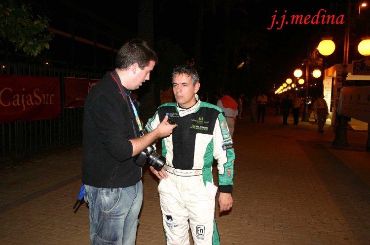 Sergio Vallejo, entrevistado tras ganar el Sierra Morena 2009