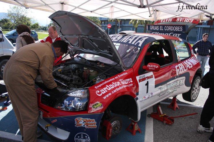 Asistencia de Francisco Mata, Rallye Gibralfaro 2013