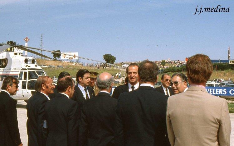 Juan Carlos en el Circuito del Jarama 1982