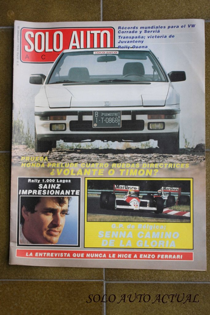 Portada Solo Auto Actual, nº35 Sept 88