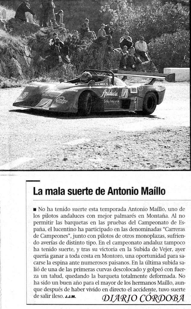 Antonio Maíllo, Osella PA-8, Subida a Montoro 2000