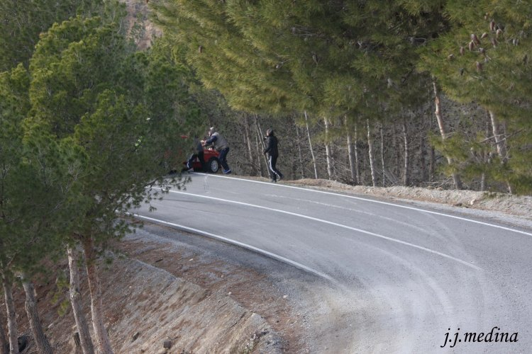 Salida de pista VW Golf de Meléndez-Valdés