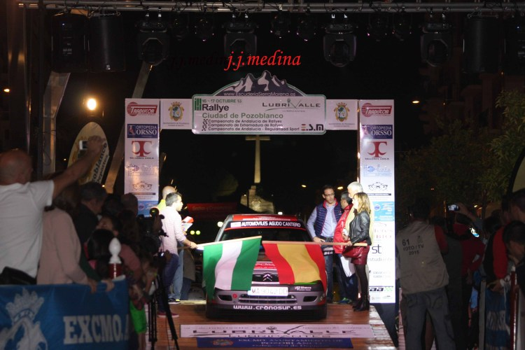 Rampa de salida Rallye de Pozoblanco 2015