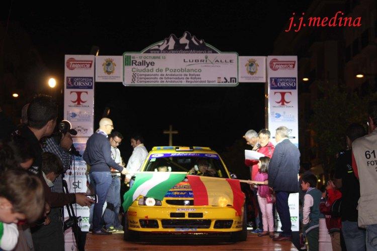 Octubre, ceremonia de salida Rallye de Pozoblanco
