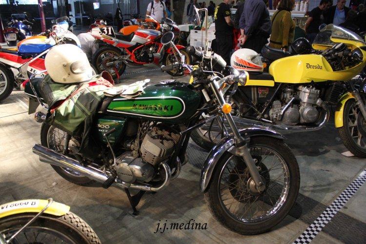 Kawasaki 500 Mach III y Dresda Honda