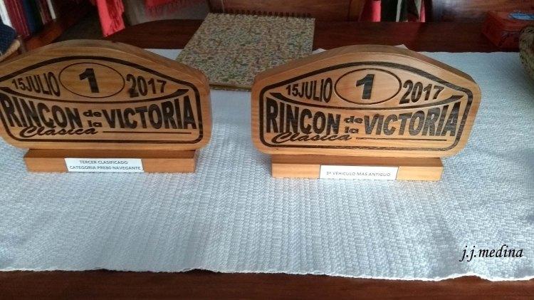 Trofeos  de la I Clásica Rincón e la Victoria